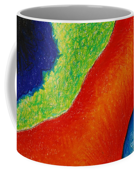 Colored Pencil Coffee Mug featuring the drawing Number 15 by Nancy Mueller