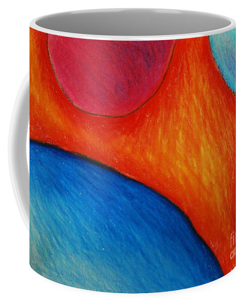 Colored Pencil Coffee Mug featuring the drawing Number 16 by Nancy Mueller