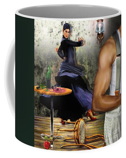 Dancer Coffee Mug featuring the painting Nunca Hemos Bailado Una Cancion De Amor by Reggie Duffie