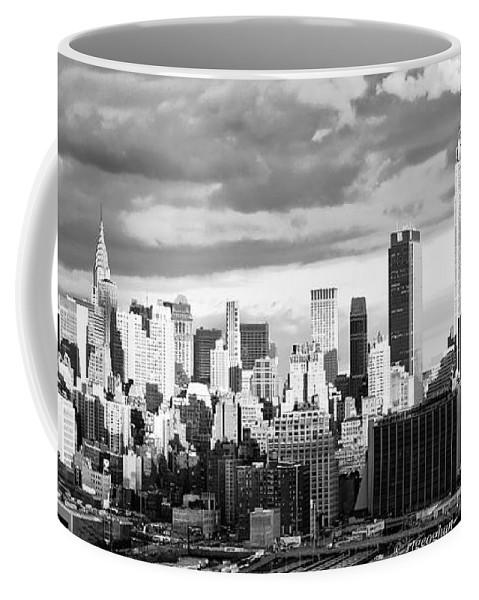 New York Skyline Coffee Mug featuring the photograph Ny Skyline Light And Shadows by Regina Geoghan