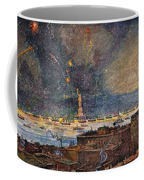 1886 Coffee Mug featuring the photograph Ny: Statue Of Liberty, 1886 by Granger