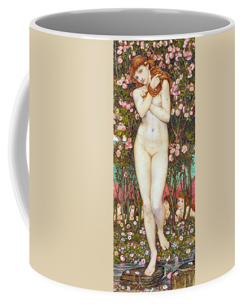 John Roddam Spencer Stanhope Coffee Mug featuring the digital art Nymph by John Roddam Spencer Stanhope