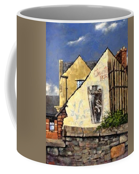 Bars Coffee Mug featuring the painting O Neils Bar Londonderry by Jim Gola