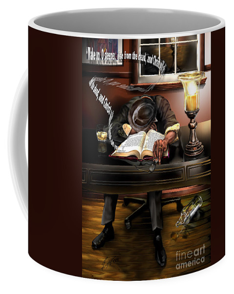Still Life Painting Coffee Mug featuring the painting O Sleeper by Reggie Duffie