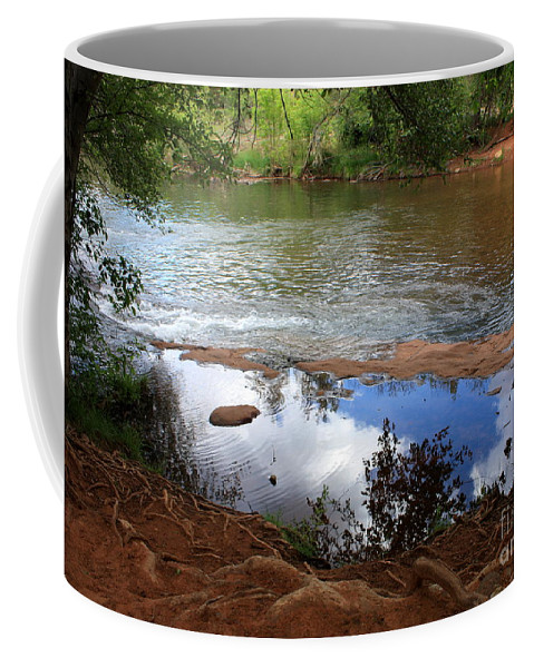 Sedona Coffee Mug featuring the photograph Red Rock Crossing by Carol Groenen