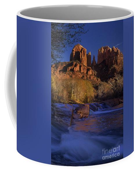 North America Coffee Mug featuring the photograph Oak Creek Crossing Sedona Arizona by Dave Welling