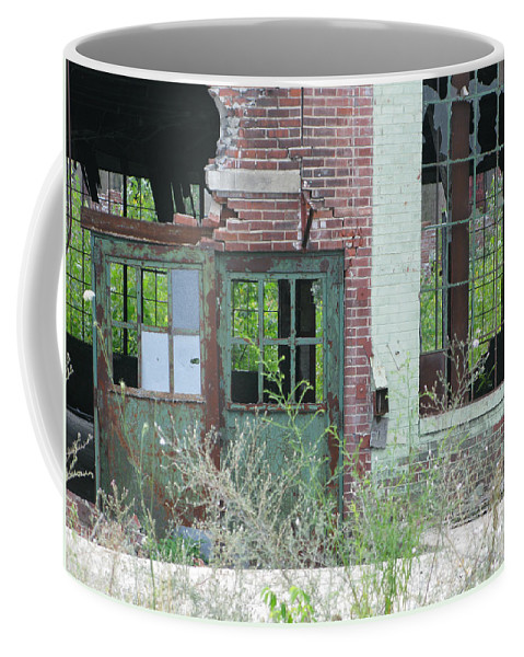 Factory Coffee Mug featuring the photograph Obsolete by Ann Horn
