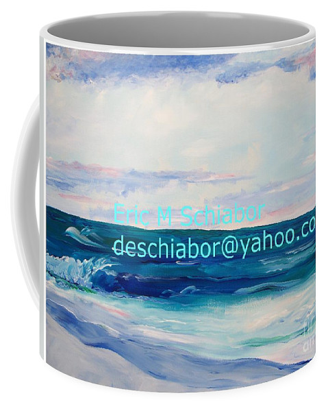 Floral Coffee Mug featuring the painting Ocean Assateague Virginia by Eric Schiabor