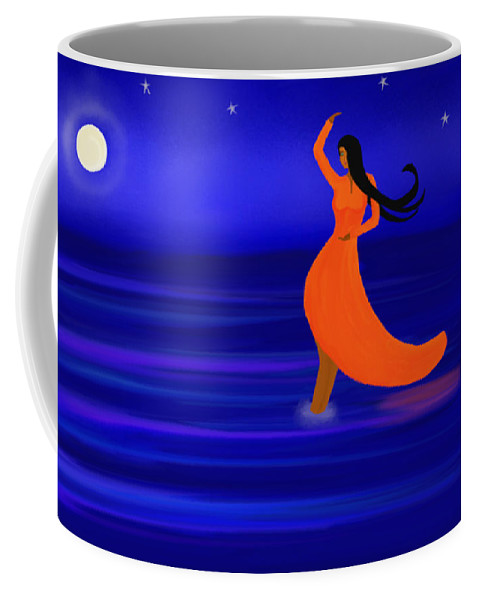 Ocean Dancer Coffee Mug featuring the painting Ocean Dancer by Anita Lewis