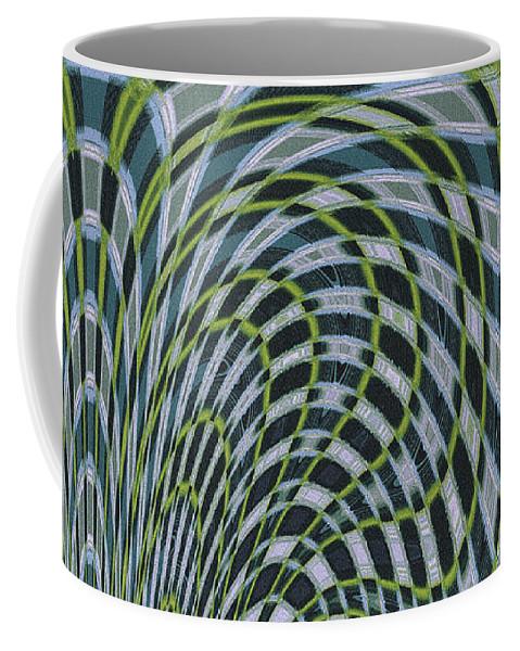 Water Abstract Coffee Mug featuring the digital art Ocean Dream by Ben and Raisa Gertsberg