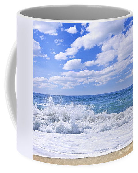 Surf Coffee Mug featuring the photograph Ocean Surf by Elena Elisseeva