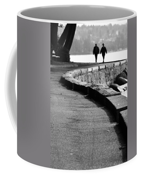 Ocean Wall Coffee Mug featuring the photograph Ocean Walk by The Artist Project