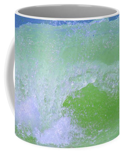 Water Coffee Mug featuring the photograph Ocean Wave by Karen Adams
