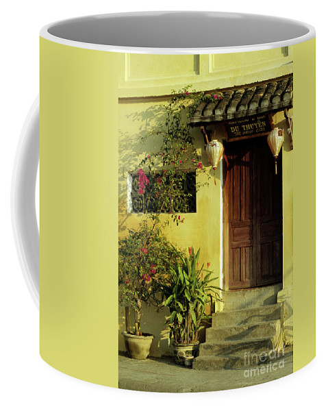 Vietnam Coffee Mug featuring the photograph Ochre Wall 01 by Rick Piper Photography