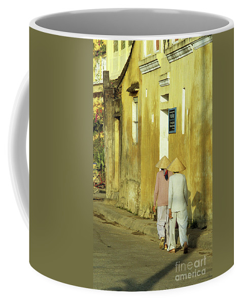 Vietnam Coffee Mug featuring the photograph Ochre Wall 02 by Rick Piper Photography