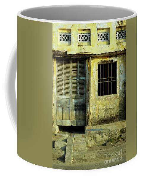 Vietnam Coffee Mug featuring the photograph Ochre Wall 03 by Rick Piper Photography