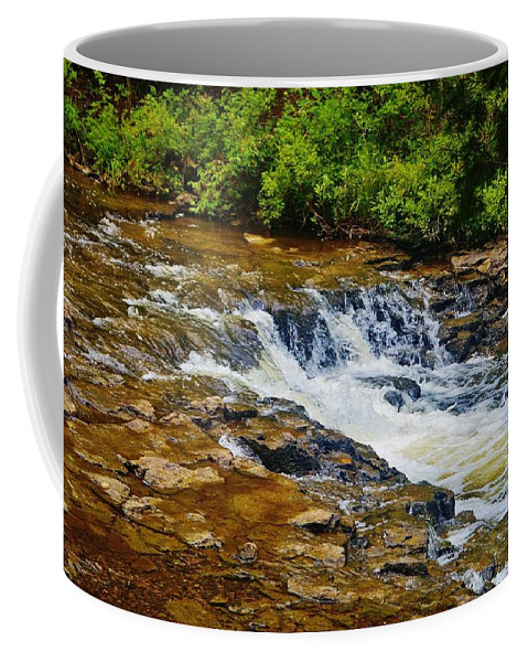 Coffee Mug featuring the photograph Ocqueoc Falls 2 by Daniel Thompson