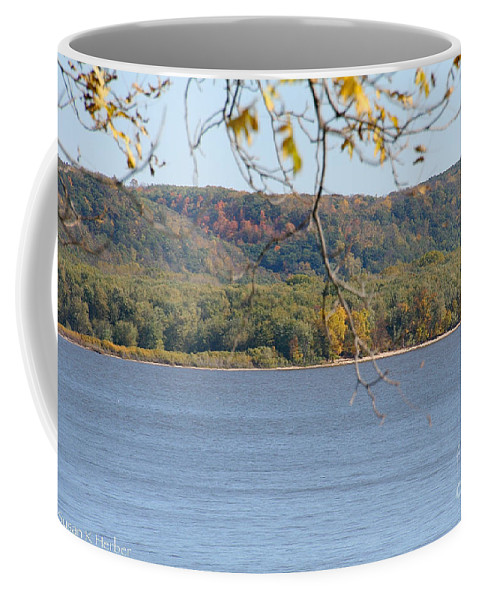 Flower Coffee Mug featuring the photograph October Bluffs by Susan Herber