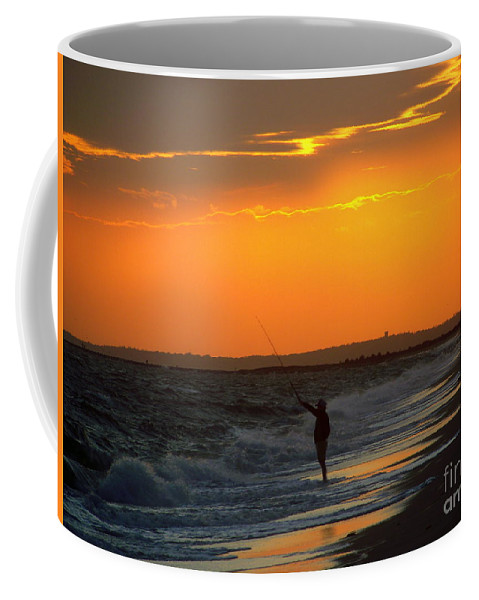 October Coffee Mug featuring the photograph October Fishing by CapeScapes Fine Art Photography