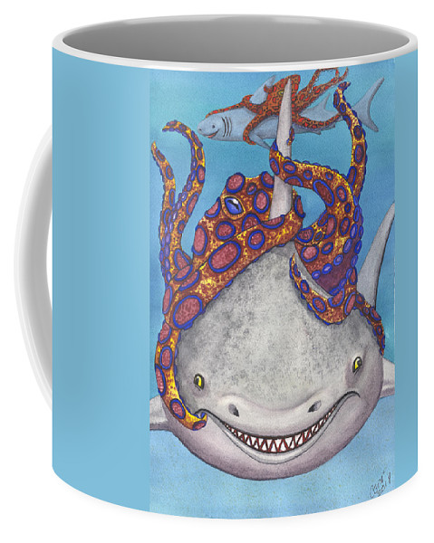 Octopus Coffee Mug featuring the painting Octopied by Catherine G McElroy