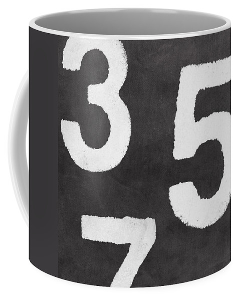 Odd Numbers Coffee Mug featuring the painting Odd Numbers by Linda Woods