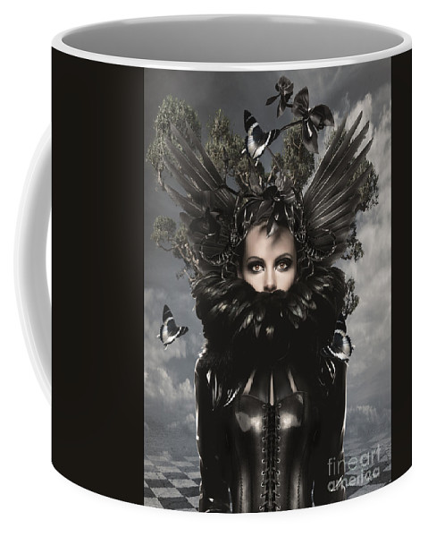 Gothic Coffee Mug featuring the digital art Oddish by Babette Van den Berg