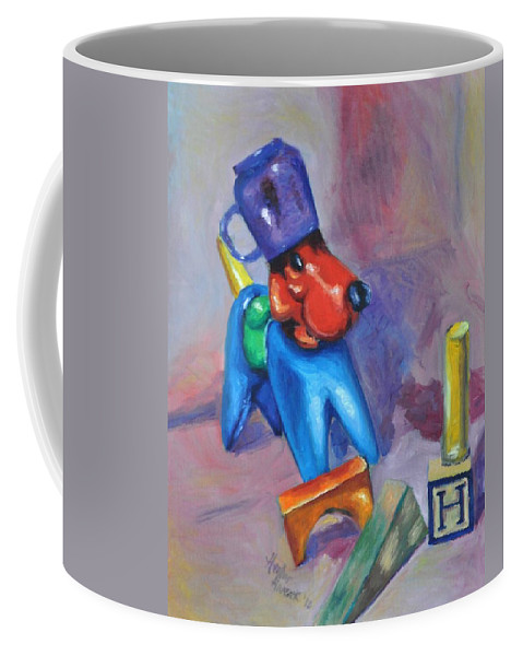 Tupperware Coffee Mug featuring the painting Ode To Jenni by Heather Hancock