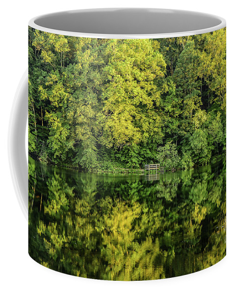 Tree Coffee Mug featuring the photograph Ogle Lake Reflections 2 by Mary Carol Story