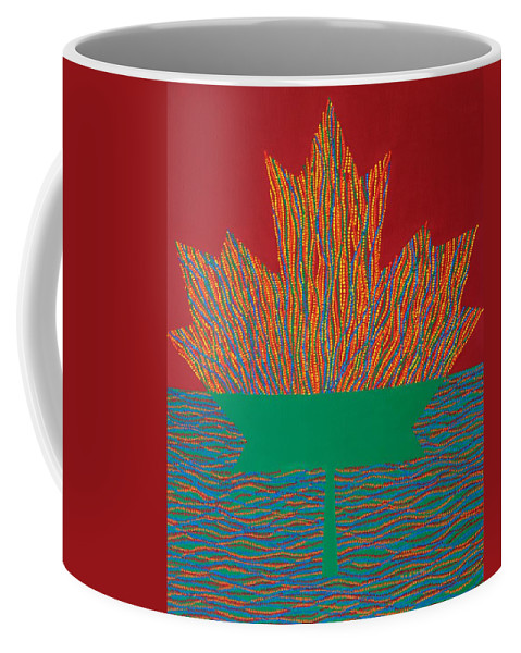 Modern Coffee Mug featuring the painting Oh Canada 3 by Kyung Hee Hogg