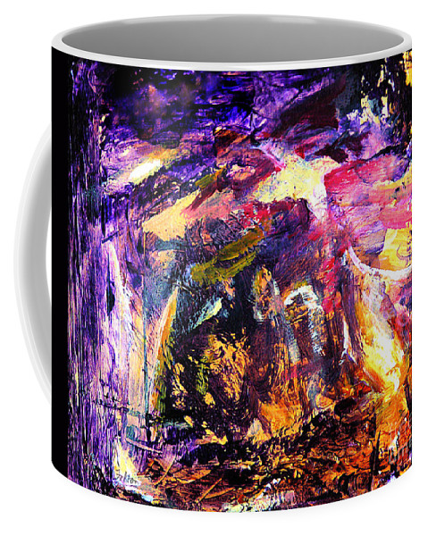 Abstract Coffee Mug featuring the painting Oh Holy Night by Julianne Felton