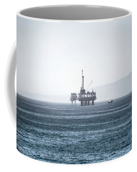 Oil Rig Coffee Mug featuring the photograph Oil Tower by Diego Re