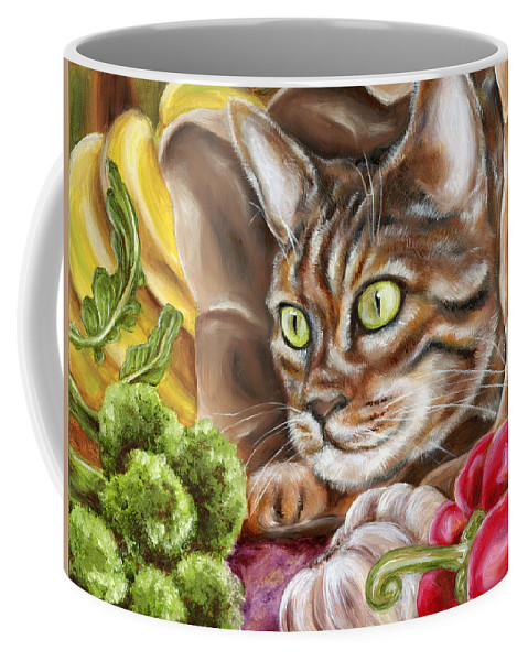Cat Coffee Mug featuring the painting Ok Now What by Hiroko Sakai