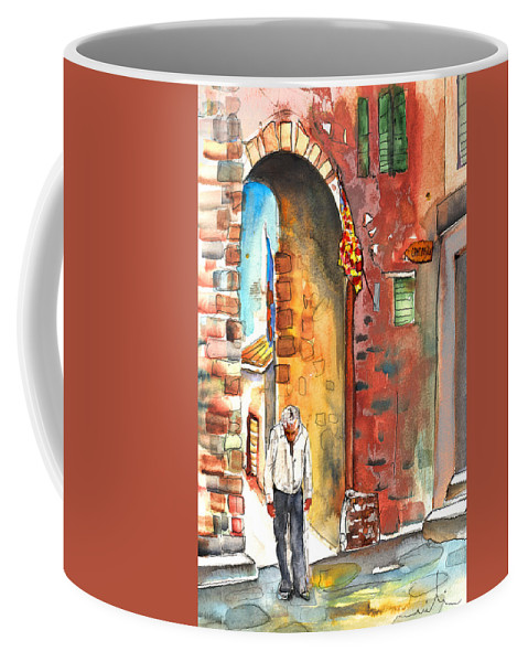 Italy Coffee Mug featuring the painting Old And Lonely In Italy 04 by Miki De Goodaboom