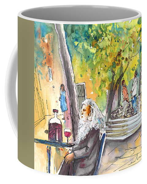 Italy Coffee Mug featuring the painting Old And Lonely In Italy 05 by Miki De Goodaboom