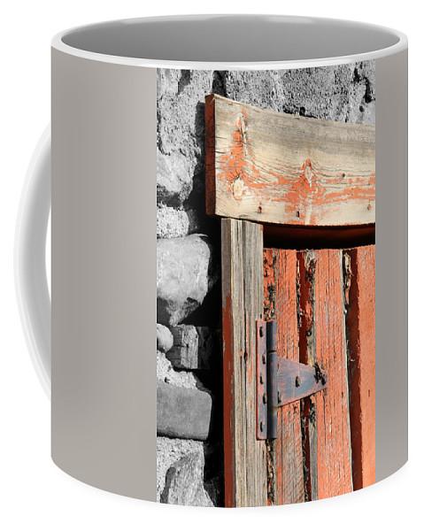 Barn Coffee Mug featuring the photograph Old Barn Door by Tony Hake