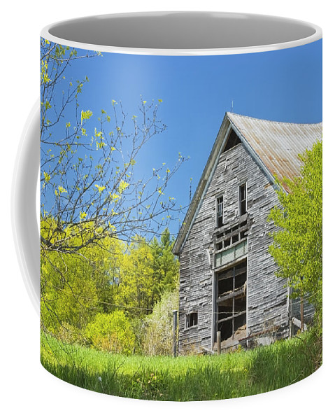 Barn Coffee Mug featuring the photograph Old Barn In Spring Maine by Keith Webber Jr
