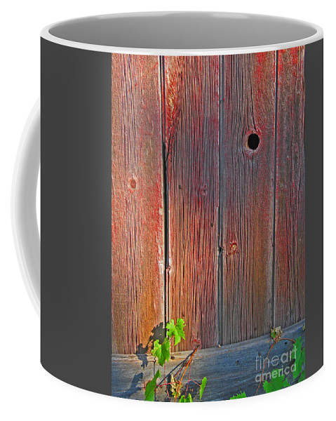 Barn Coffee Mug featuring the photograph Old Barn Wood by Ann Horn