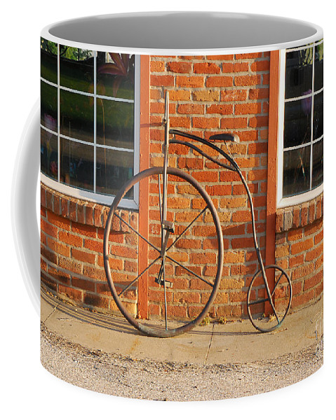 Sculpture Coffee Mug featuring the photograph Old Bike by Mary Carol Story