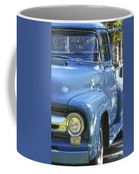Ford Coffee Mug featuring the photograph Old Blue by Donna Blackhall