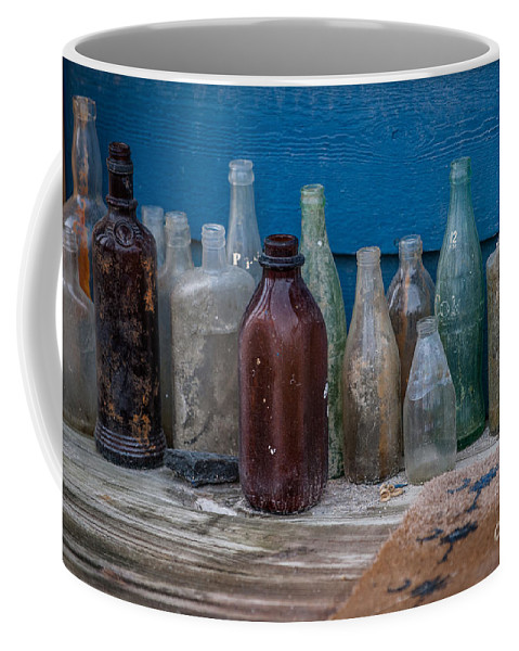 Old Bottles Coffee Mug featuring the photograph Old Bottles by Dale Powell