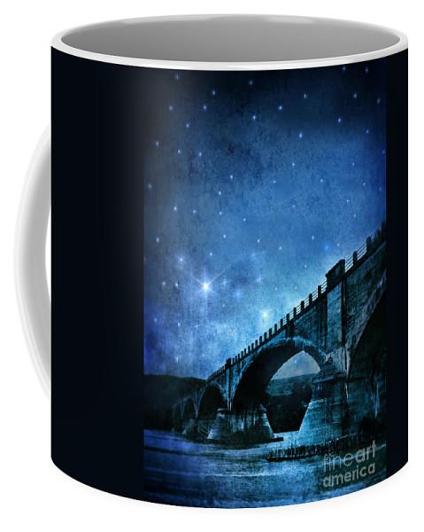 Bridge Coffee Mug featuring the photograph Old Bridge Over River by Jill Battaglia