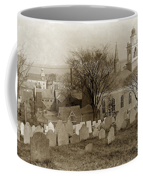 Church Coffee Mug featuring the photograph Old Church's Cemetery Graveyard Boston Massachusetts Circa 1900 by California Views Archives Mr Pat Hathaway Archives