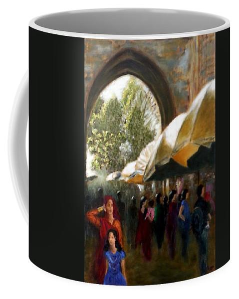 Old City Coffee Mug featuring the painting Old City Ahmedabad Series 7 by Uma Krishnamoorthy