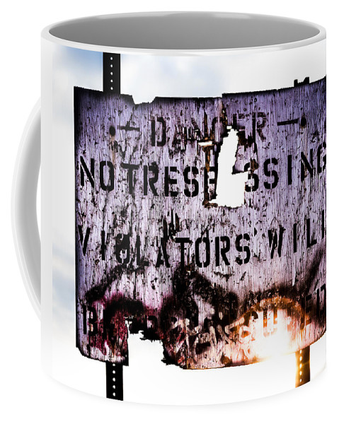 Danger Coffee Mug featuring the photograph Old Danger by Bob Orsillo