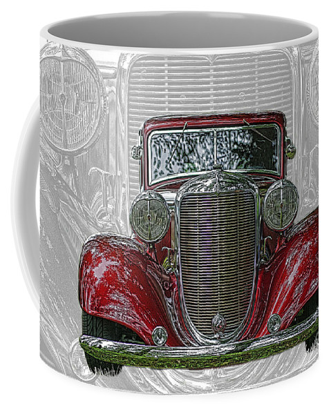 Cars Coffee Mug featuring the photograph Old Desoto by Randy Harris