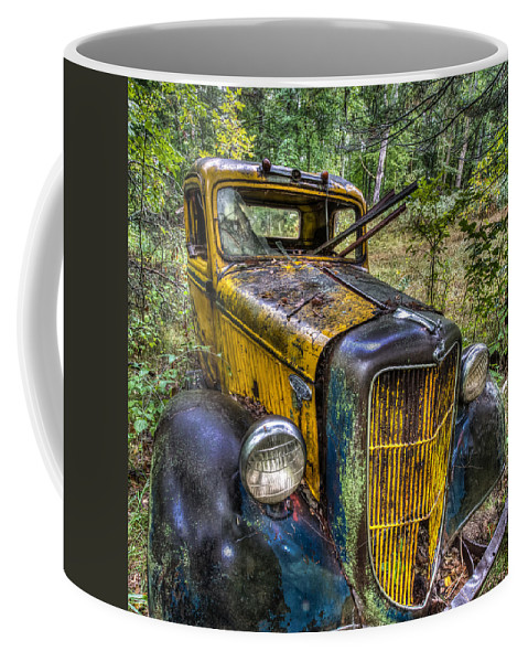 Rare Coffee Mug featuring the photograph Old Ford by Paul Freidlund