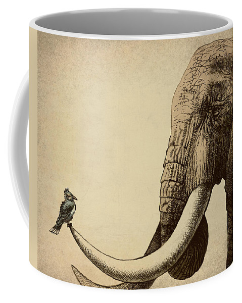 Elephant Coffee Mug featuring the photograph Old Friend by Eric Fan