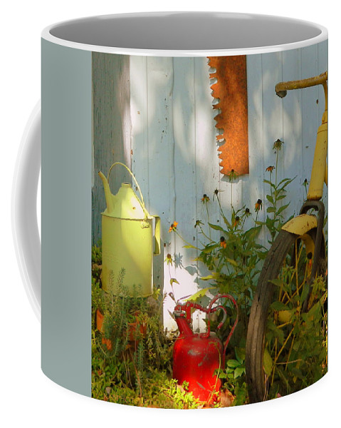 Architecture Coffee Mug featuring the photograph Old Friends by Kathy Barney