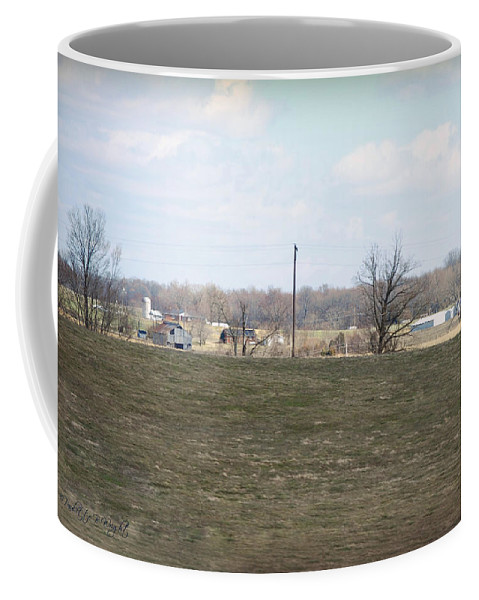Featured Coffee Mug featuring the photograph Old Gray Shed On The Hill by Paulette B Wright