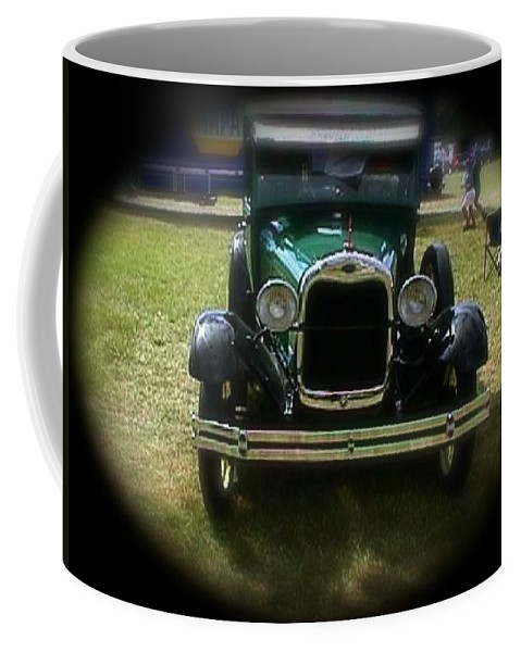 Coffee Mug featuring the photograph Old Green Car by Chris W Photography AKA Christian Wilson
